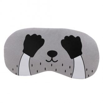 Flannel Eye Sleeping Mask Cat Print