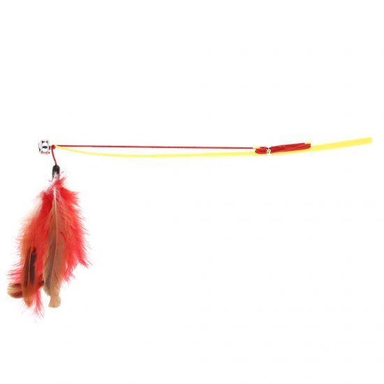 Colorful Feather Teaser Toys for Cats