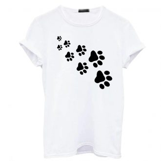 Women's Fashion Cat Paw Print Printed T-Shirt