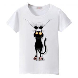 Women's Multi Cat Printed T-Shirt